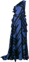 MSGM one shoulder printed gown - women - Silk - 42