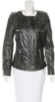 Etoile Isabel Marant Leather Distressed Jacket w/ Tags