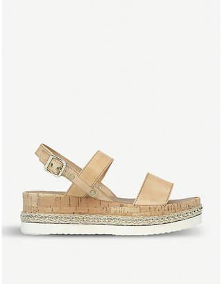 Carvela Krash leather and cork sandals