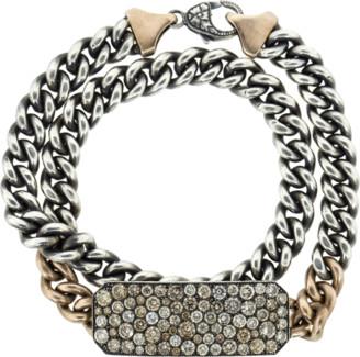 Sylva & Cie Champagne Diamond Ten Table Wrap Bracelet & Choker