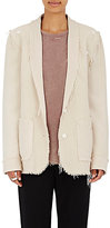 Raquel Allegra Women's Convertible Two-Button Blazer-CREAM