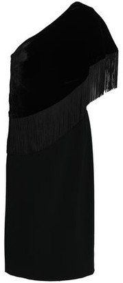 Sachin + Babi Briar One-shoulder Fringed Velvet Dress