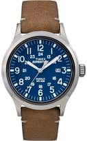 Timex Blue 'expedition Scout' Leather Strap Watch Tw4b01800
