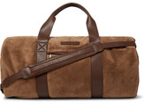 Brunello Cucinelli Leather-trimmed Suede Duffle Bag - Tan