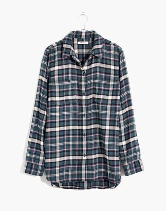 Madewell Flannel Classic Ex-Boyfriend Shirt in Baywood Plaid
