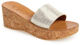K Jacques St Tropez Wedge Slide Sandal (Women)