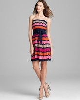 Shelli Segal Laundry by Petites Belted Sweater Dress - Strapless