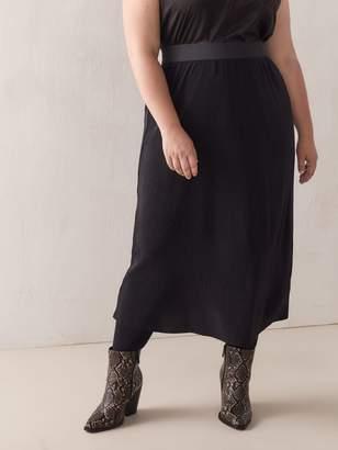Fortuny Black Pleated Skirt - Addition Elle