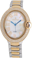 Croton Womens Two Tone Bracelet Watch-Cn207566ttmp