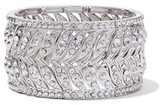 New York & Co. Glittering Silvertone Stretch Bracelet