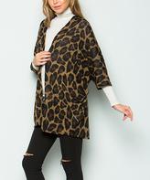 Sweet Pea Mocha & Brown Leopard Kimono