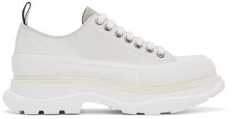 Alexander McQueen Off-White Suede Tread Slick Platform Sneakers