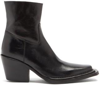 Acne Studios Bruna Cuban-heel Polished-leather Boots - Black