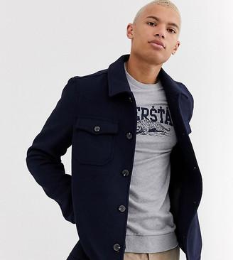 Asos Design DESIGN Tall wool mix utility bomber jacket in navy