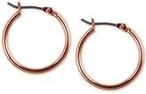 Nine West Rose Gold-Tone Hoop Earrings