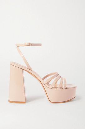 Gianvito Rossi Angelica 70 Patent-leather Platform Sandals - Beige
