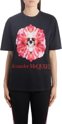 Alexander McQueen Skull Flower Logo Tee