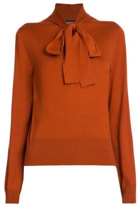 Dolce & Gabbana Wool Knit Tieneck Sweater