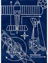 Momeni Vintage Plane Blueprint Rug