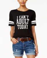 Hybrid Juniors' I Can't Adult Today Graphic T-Shirt