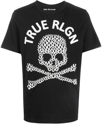 True Religion logo skull print T-shirt