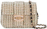 Monique Lhuillier embellished Bianca shoulder bag - women - Satin/Satin Ribbon/Sequin - One Size
