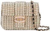 Monique Lhuillier iridescent shoulder bag - women - Satin/Satin Ribbon/Sequin - One Size
