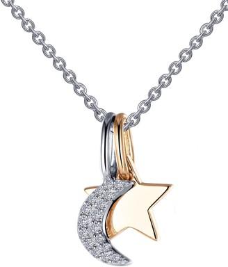 Lafonn Star & Moon Pendant Necklace