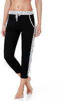 Kensie Dot-Trimmed Cropped Jogger Sleep Pants
