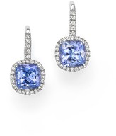 Bloomingdale's Tanzanite and Diamond Drop Earrings in 14K White Gold