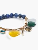 Lucky Brand Multi Beaded Charm Bracelet
