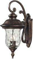 Lafayette Titan Lighting 3-Light Regal Bronze Outdoor Sconce