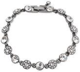 Givenchy Hematite-Tone Crystal and Pavé Link Bracelet
