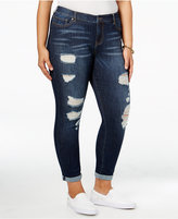 Celebrity Pink Trendy Plus Size Nostalgia Wash Ripped Jeans