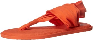 Sanuk Girl's Yoga Sling Burst Spectrum (Little Kid/Big Kid) Nasturtium 6-7 Big Kid