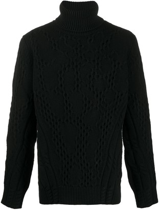 Dondup Roll-Neck Cable Knit Sweater