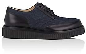 Paul Andrew Men's Ethan Denim & Leather Oxfords-Navy, Black