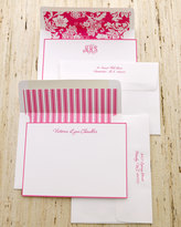 Horchow 25 Hot-Pink-Bordered Notes with Plain Envelopes