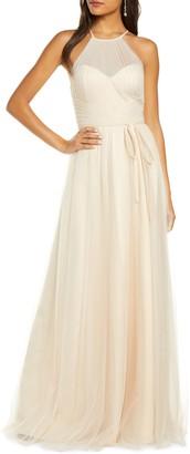 Marchesa Halter Tulle Bridesmaid Gown