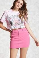 Forever 21 Frayed Corduroy Mini Skirt