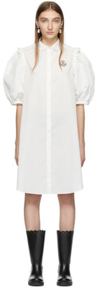 Simone Rocha Moncler Genius 4 Moncler White Shirt Dress