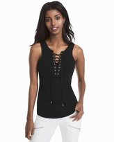 White House Black Market Miami Lace-Up Tank Top