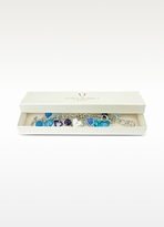 Murano Antica Murrina Stardust Glass Heart Charm Bracelet Watch