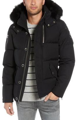 Moose Knuckles 3Q Genuine Fox Fur Trim Down Jacket