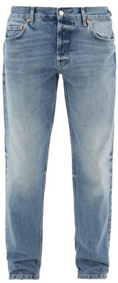 Raey Shady Faded Slim-leg Jeans - Mens - Light Blue