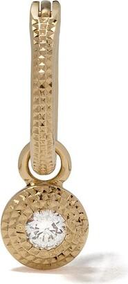 De Beers 18kt yellow gold Talisman white diamond earring