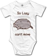 Juney Pusheen Cat So Lazy Can't Move Cute Baby Onesie Clothes