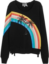 Pam & Gela Black Rainbow-print Cotton Sweatshirt
