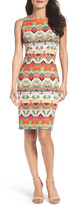 Maggy London Print Sheath Dress (Regular & Petite)