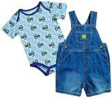 John Deere Baby Boy Tractor Bodysuit & Jean Shortalls Set